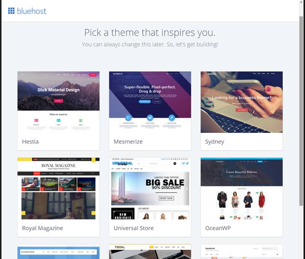bluehost how to create blog