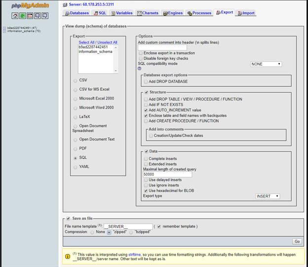 godaddy migrate database bluehost