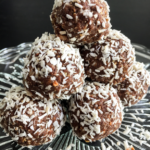 Chocolate coconut protein snowballs