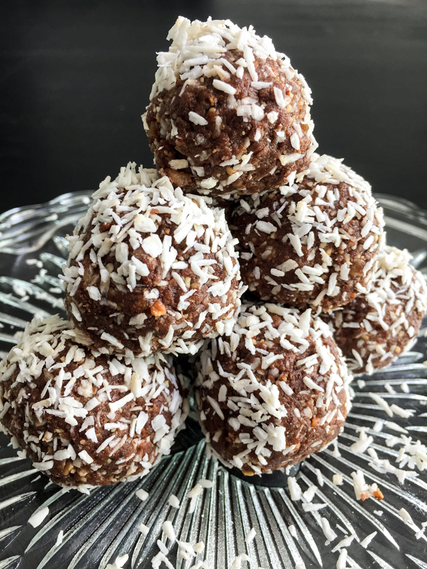 Chocolate Coconut Protein Snowballs - Refreshing Bytes